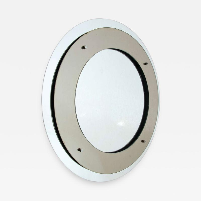 Max Ingrand Double circle mirror by Fontana Arte