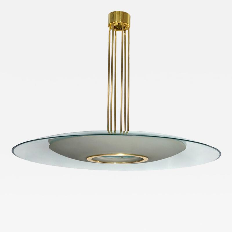 Max Ingrand Large Chandelier by Max Ingrand for Fontana Arte