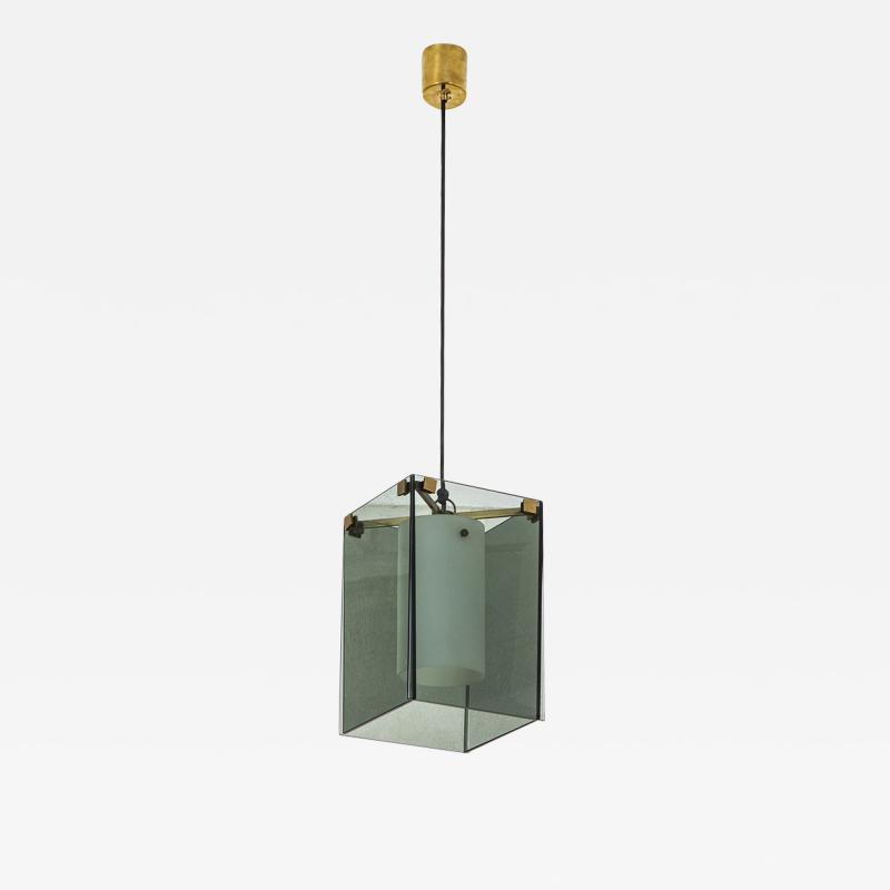Max Ingrand Max Ingrand Fontana Arte mod 2211 Chandelier in Brass and Glass