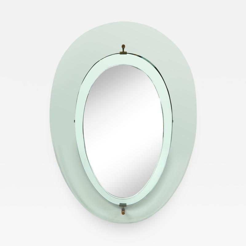 Max Ingrand Oval Mirror 2085 by Max Ingrand for Fontana Arte