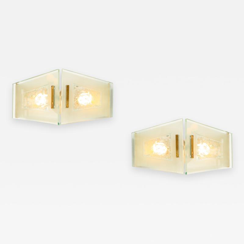 Max Ingrand Pair of Sconces by Angelo Lelii for Arredoluce