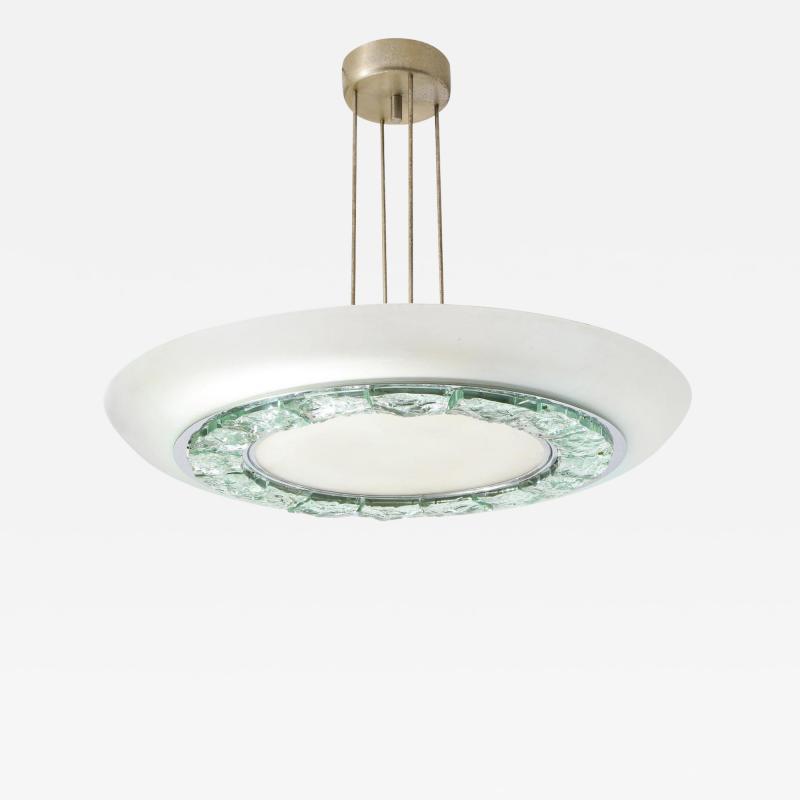 Max Ingrand Rare Ceiling Light 2459 by Max Ingrand for Fontana Arte
