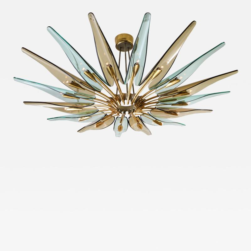 Max Ingrand Rare Dahlia Chandelier by Max Ingrand