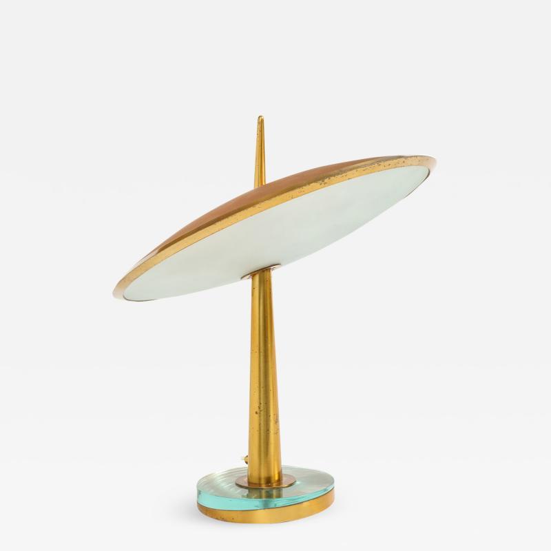 Max Ingrand Rare Disco Volante Table Lamp by Max Ingrand for Fontana Arte
