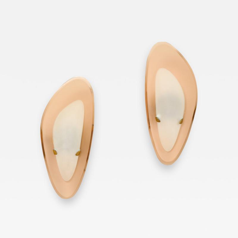 Max Ingrand Rare Pair of Sconces by Fontana Arte