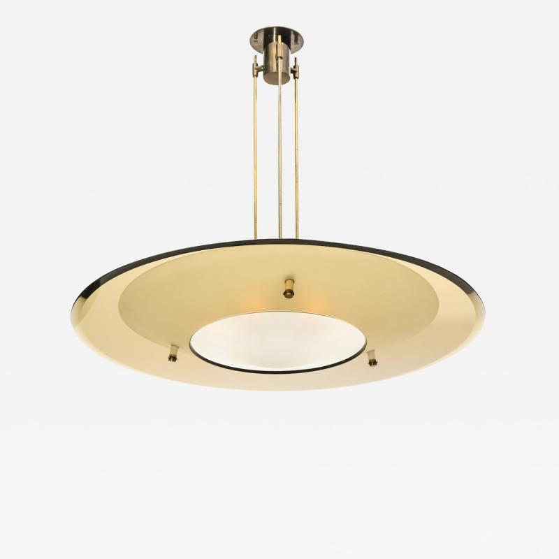 Max Ingrand Saucer Chandelier by Max Ingrand for Fontana Arte