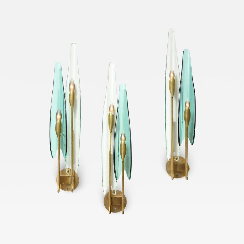 Max Ingrand Set of 3 Dahlia Sconces by Max Ingrand for Fontana Arte