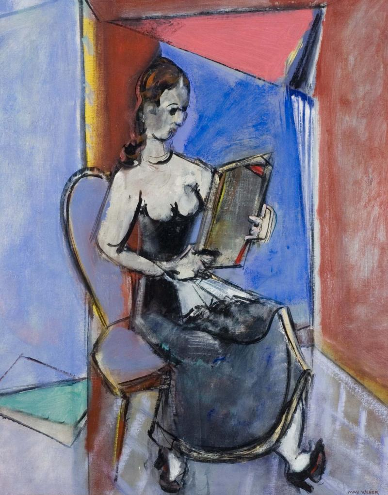 Max Weber Woman Holding Tablet 1946