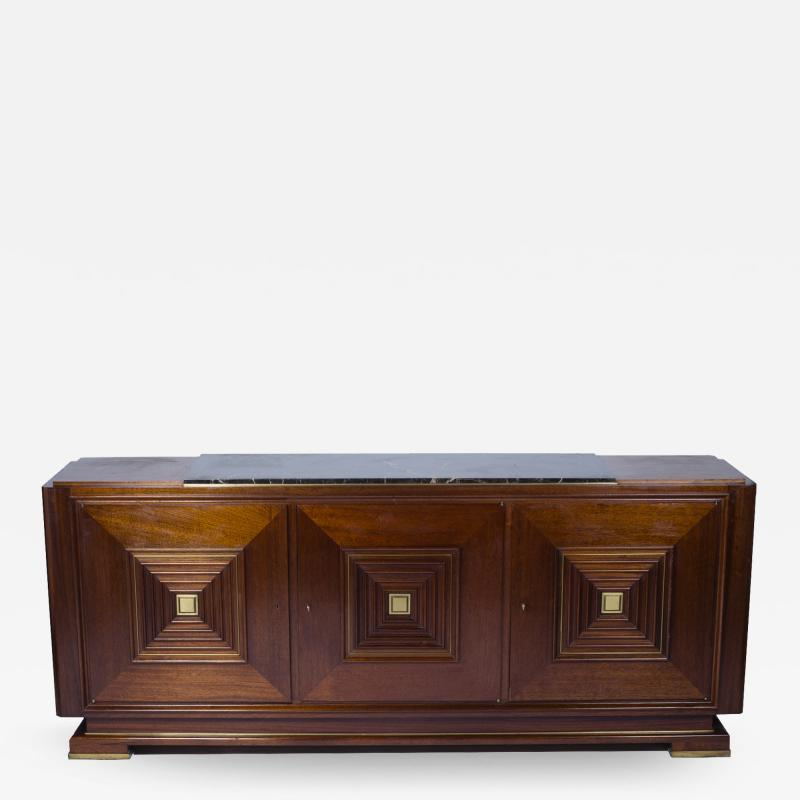 Maxime Old Sideboard with three doors in the style of Maxime Old France 1940 1950