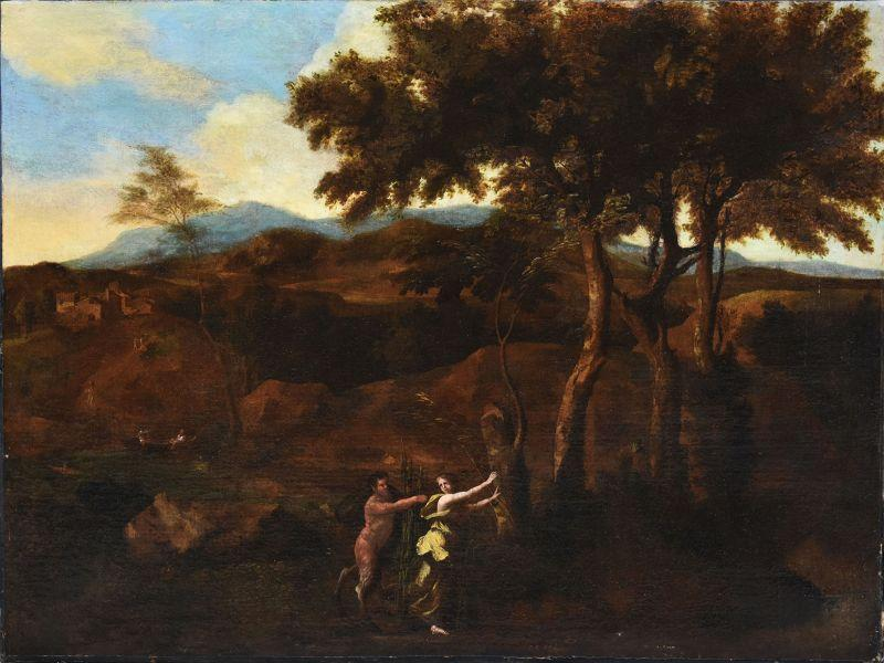 Maximilian Joseph Schinagl Satyr Chasing A Nymph Old Master Painting by Schinagl