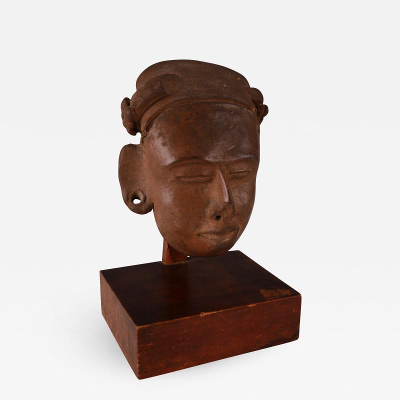 Mayan Terracotta Head Guatemalan Lowlands ca 300 600 AD