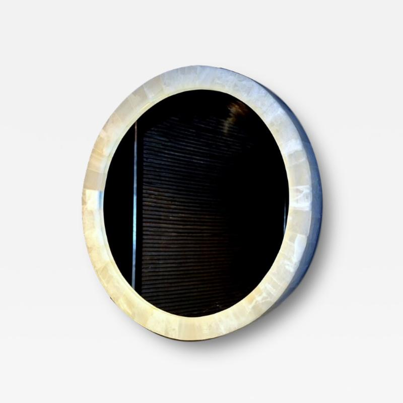 Medium Onyx Mirror with a frame backlit by LED