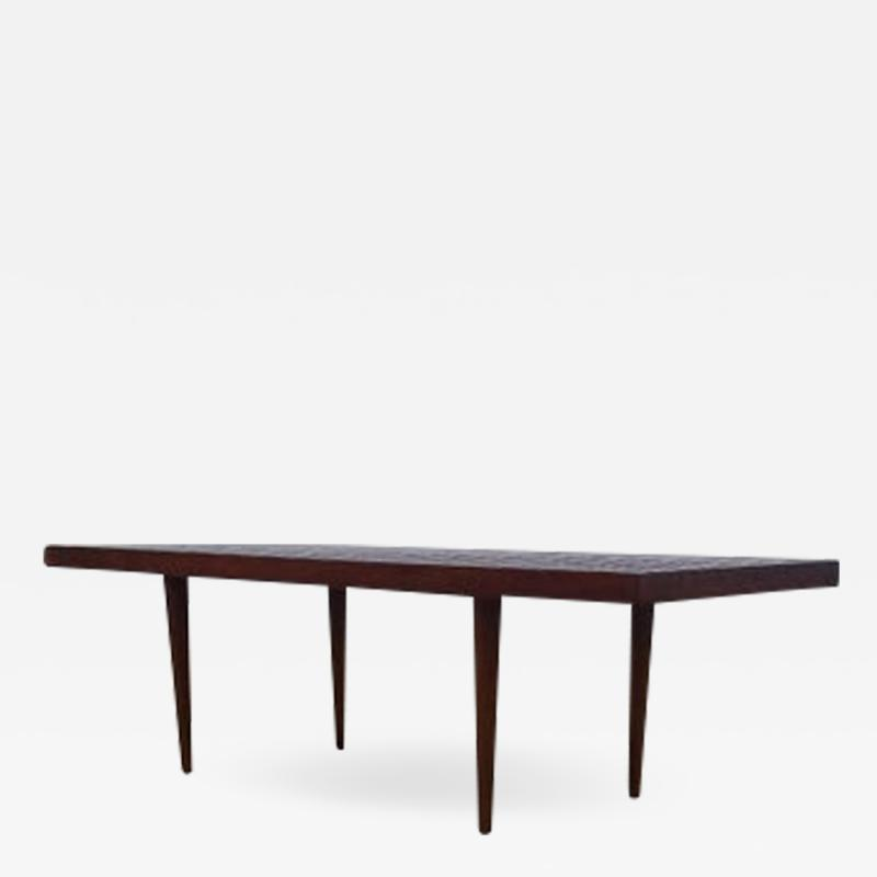 Mel Smilow Mel Smilow Slat Walnut Bench or Coffee Table