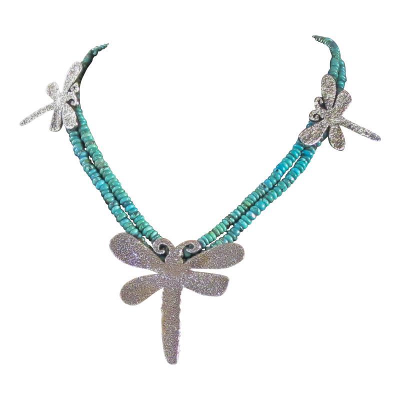 Melanie A Yazzie Dragon Fly Necklace