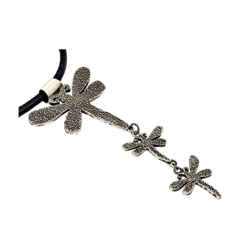 Melanie A Yazzie Trust Believe Dream Dragonfly Drop necklace pendant Melanie Yazzie designs