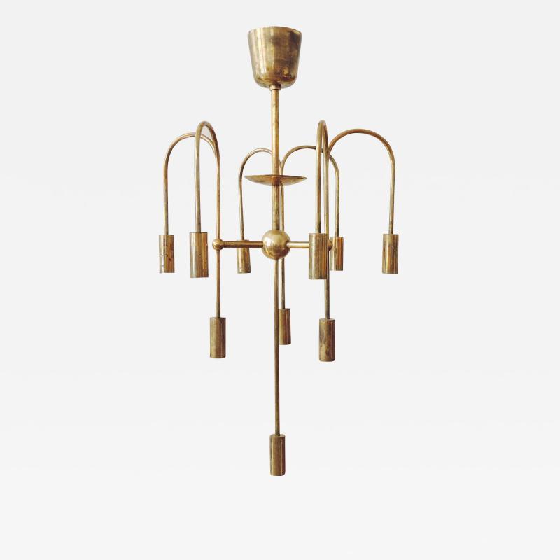 Melchiorre Bega Rare Arch Melchiorre Bega brass ceiling lamp Italy 1939