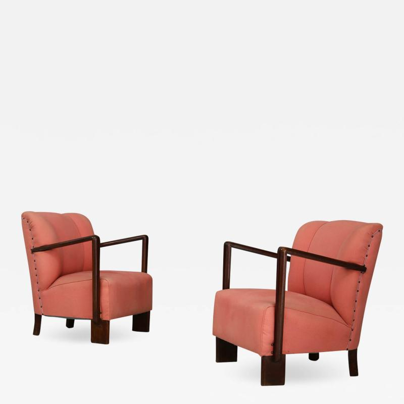 Melchiorre Bega pair of 50s armchairs by Melchiorre Bega