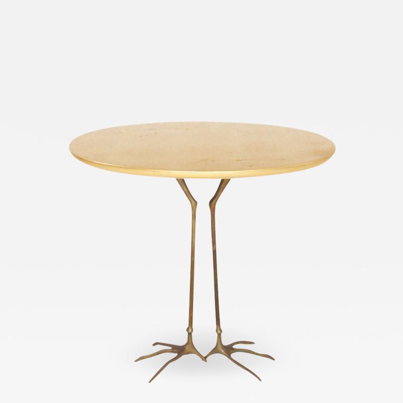 Meret Oppenheim Traccia Bronze and Gold Leaf Italian Table by Meret Oppenheim for Simon Gavina