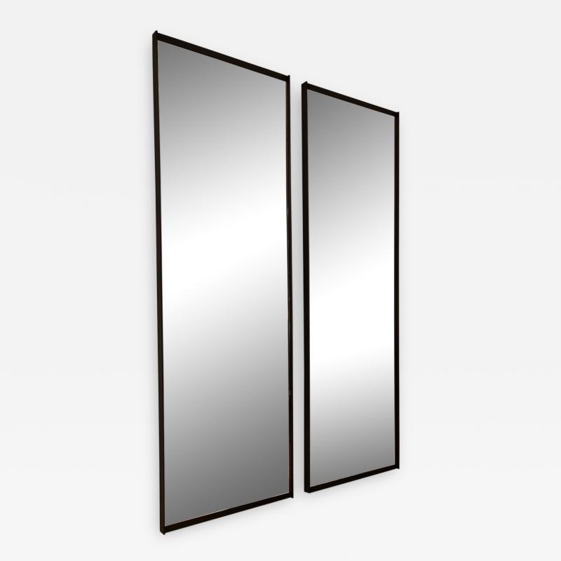 Metal frame wall mirror black
