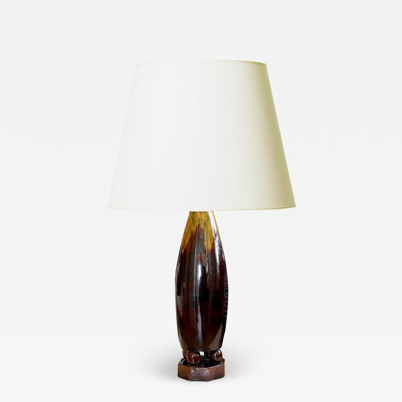 Michael Andersen Sons Art Nouveau Table Lamp by Michael Andersen Sons