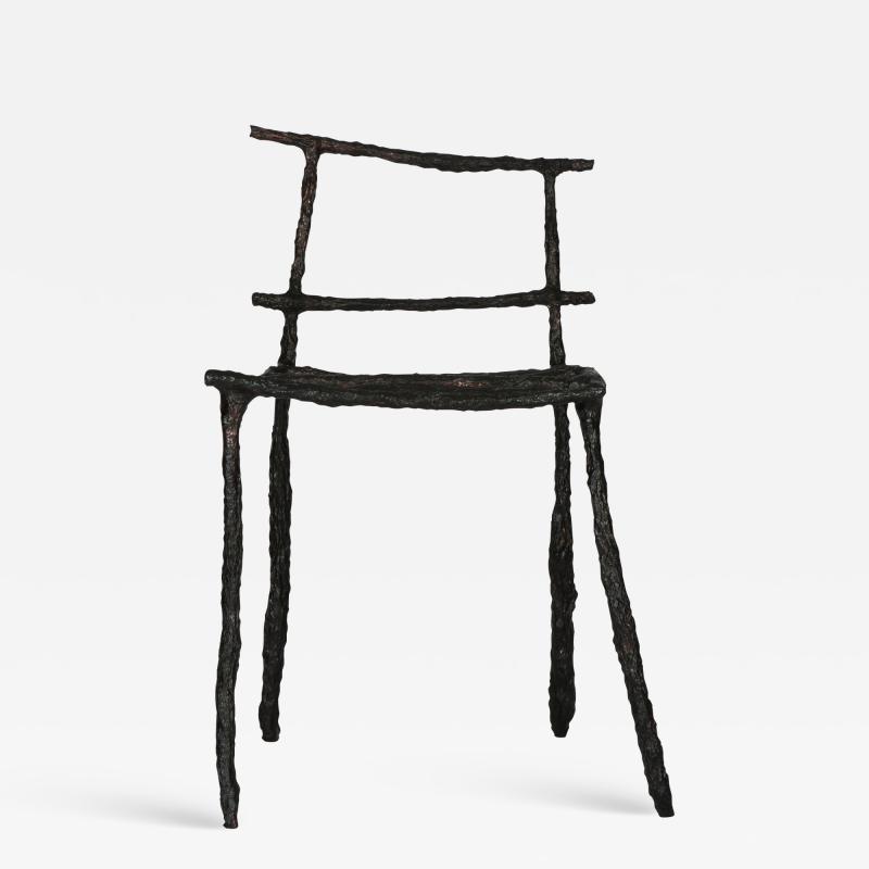 Michael Gittings Stick Sculpted Chair Signed by Michael Gittings