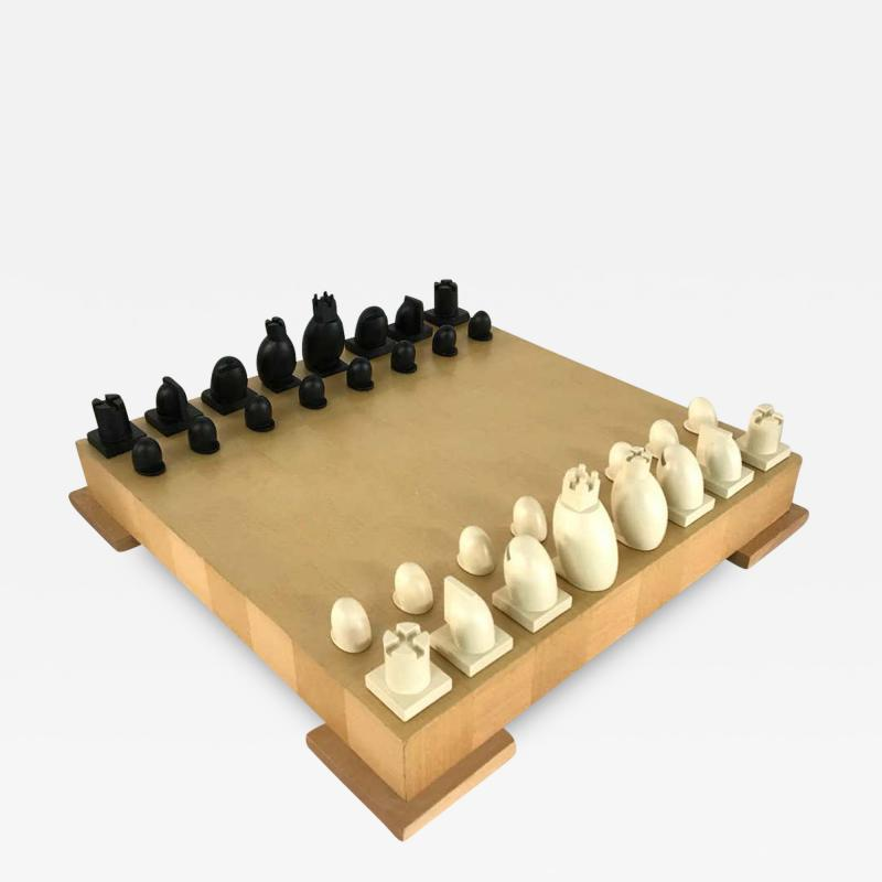 Michael Graves Michael Graves Postmodern Chess and Checkers Set Signed