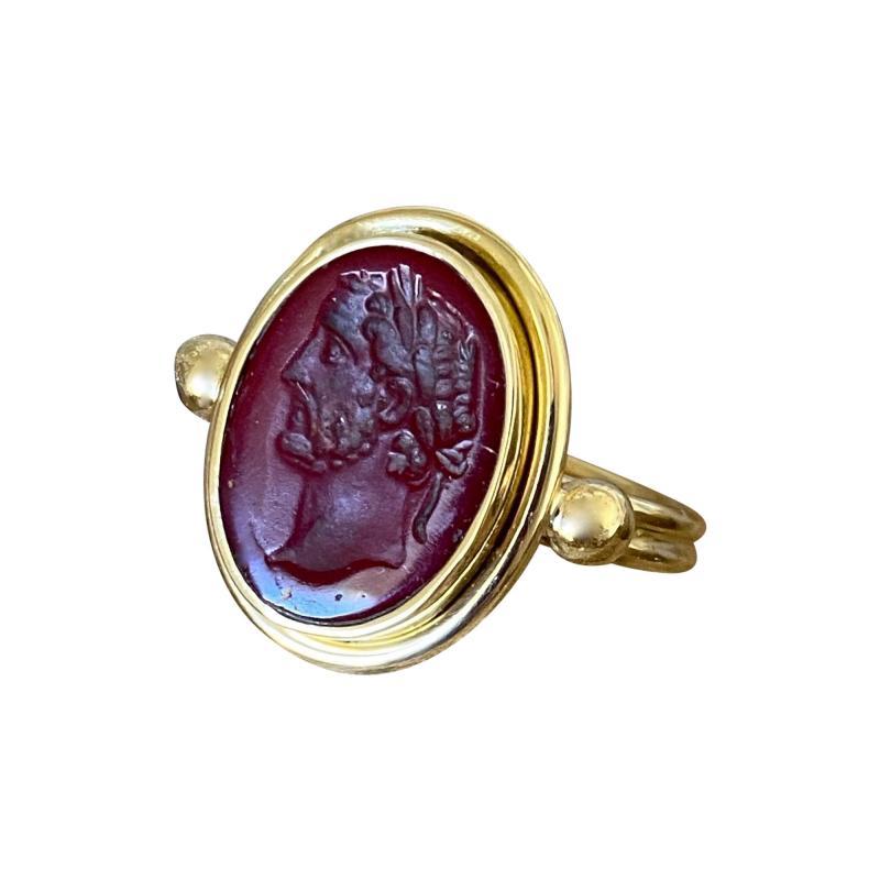Michael Kneebone Michael Kneebone Carnelian intaglio Archaic Style Ring