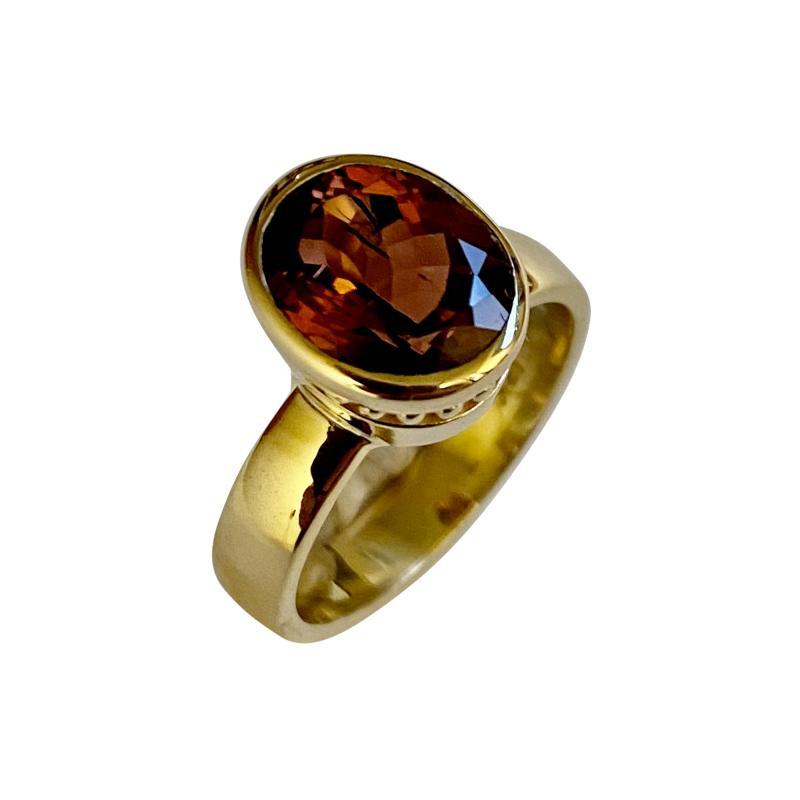 Michael Kneebone Michael Kneebone Dravite Tourmaline 18k Yellow Gold Leah Ring