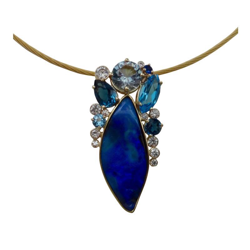 Michael Kneebone Michael Kneebone Opal Topaz Aquamarine Sapphire Diamond Confetti Pendant