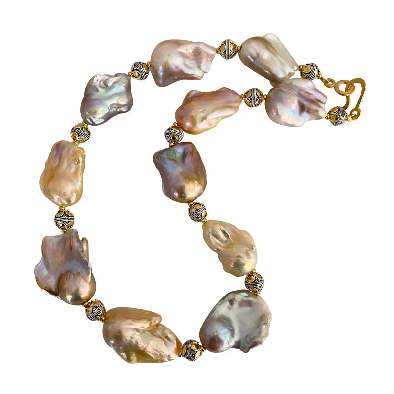 Michael Kneebone Michael Kneebone Pastel Baroque Pearl Granulated Bead Necklace