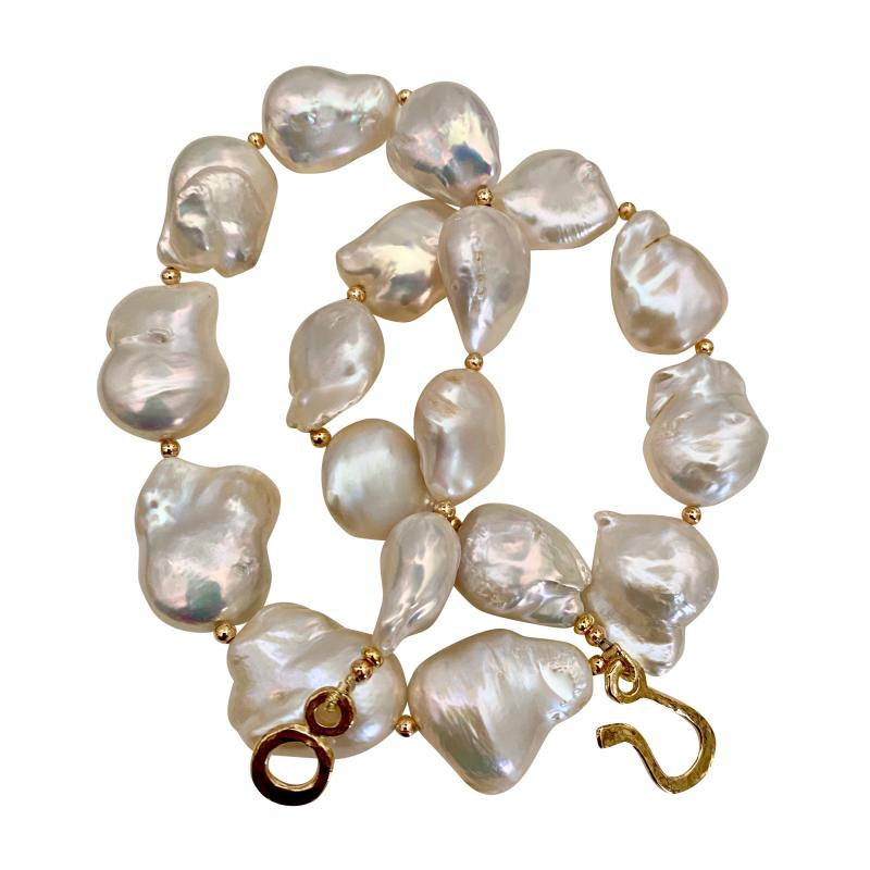 Michael Kneebone Michael Kneebone White Cloud Baroque Pearl Necklace