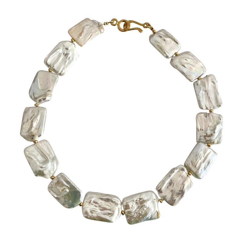 Michael Kneebone Michael Kneebone White Tile Baroque Pearl Bead Necklace