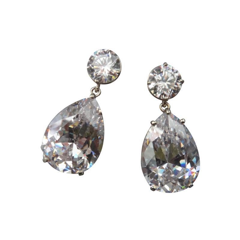Michael Kneebone Michael Kneebone White Topaz White Sapphire Dangle Earrings