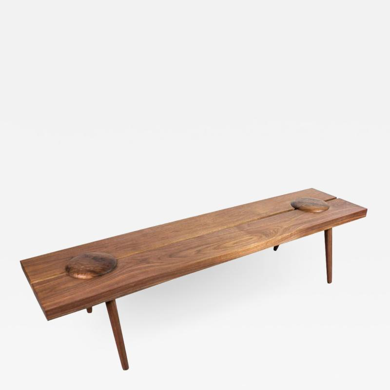 Michael Rozell Michael Rozell Studio Dome Bench or Coffee Table in Figured Walnut