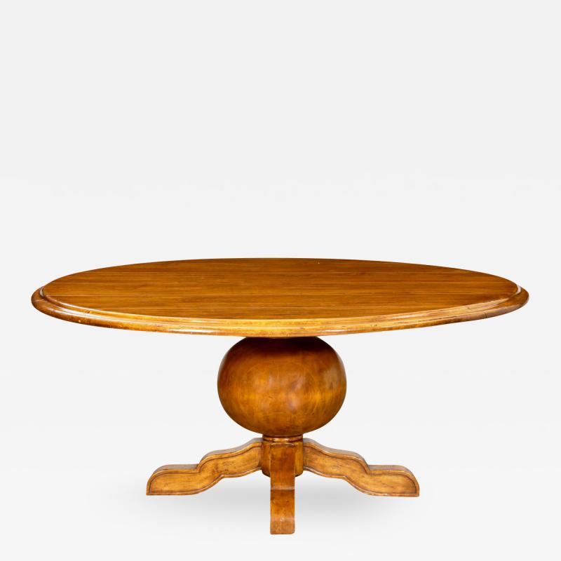 Michael Taylor Michael Taylor Ball Form Pedestal Dining Table