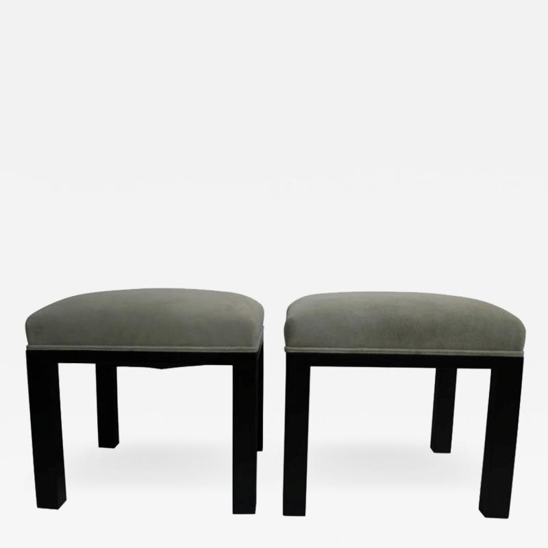 Michael Taylor Pair of Ottomans by Michael Taylor for Baker