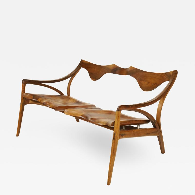 Michael Wilson Extraordinary Museum Quality Settee by Well Know Artist Michael Wilson