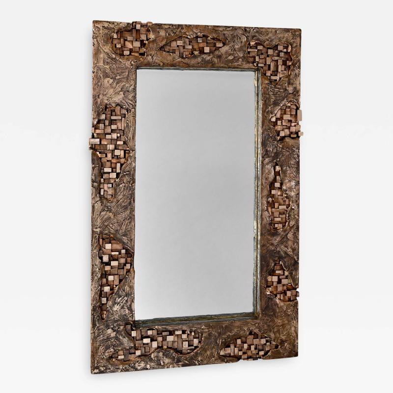 Michele Balestra bronze sculptural mirror
