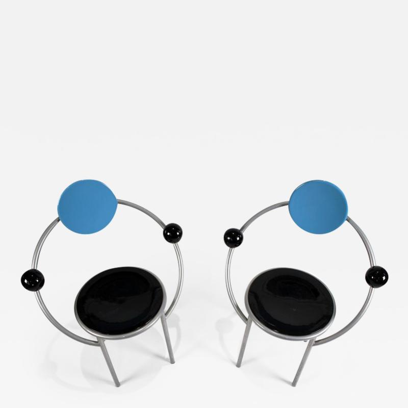 Michele de Lucchi 1980s First Chairs by Memphis Milano Designer Michele De Lucchi