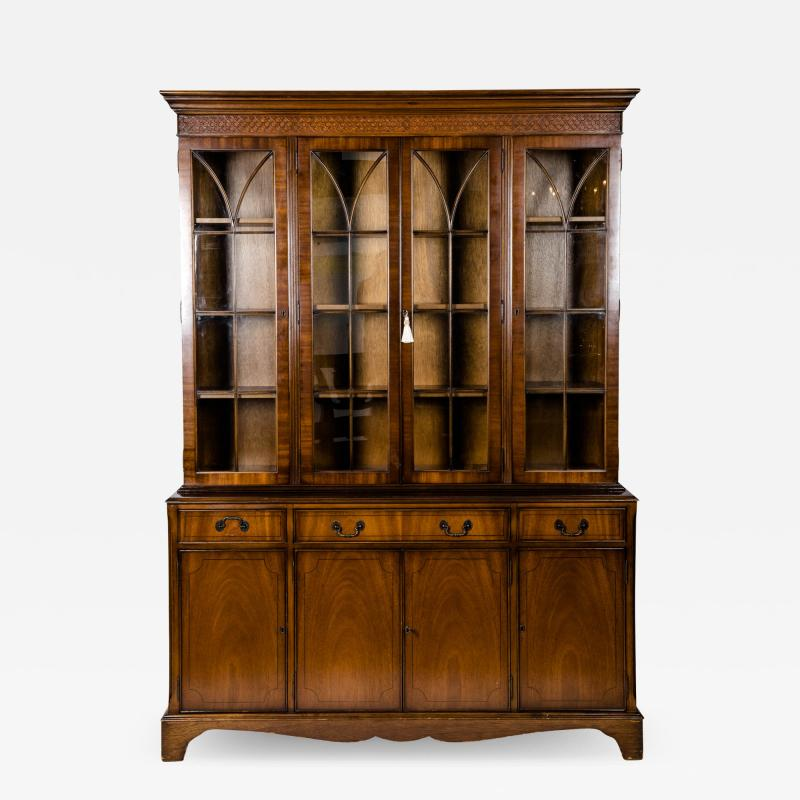 Mid 19th Century English Mahogany Wood Hutch Cabinet