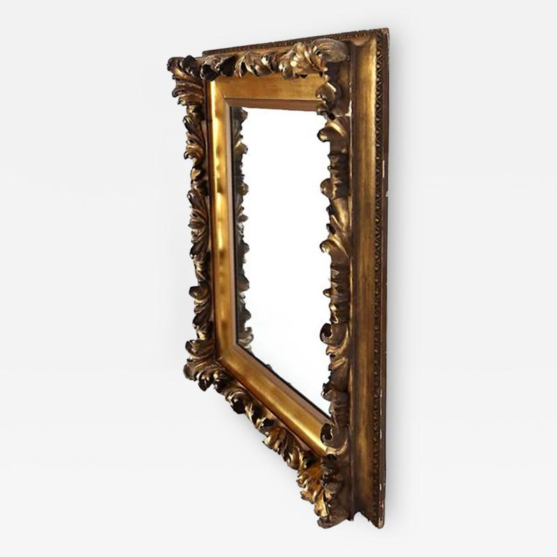 Mid 19th Century Gilt Classical Acanthus Looking Glass Mirror