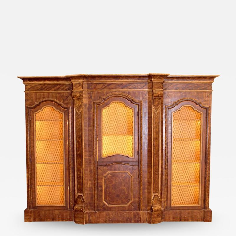 Mid 19th Century Italian Baroque Style Bookcase