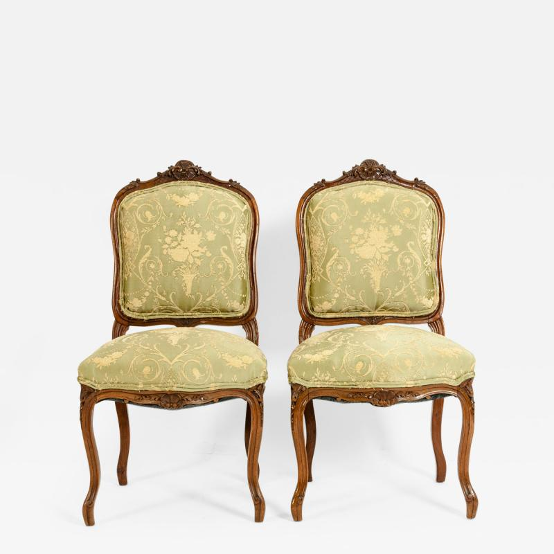 Mid 19th Century Mahogany Wood Frame Side Chairs