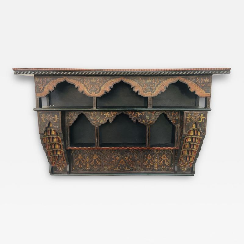 Mid 20th Century Moroccan Wall Shelf or Spice Rack