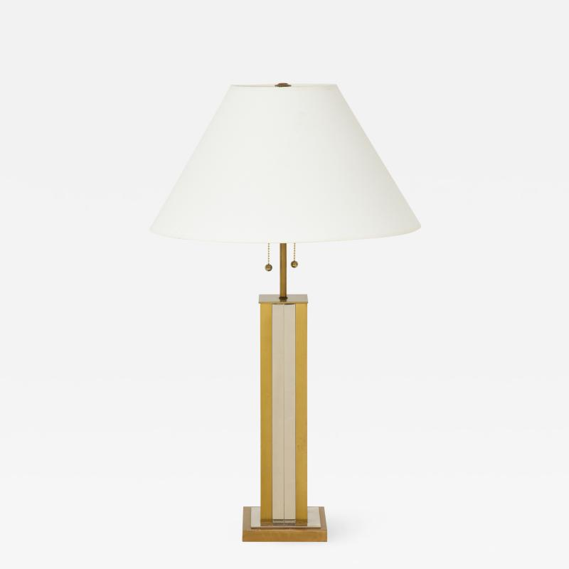 Mid 20th Century Polished Brass Lamp