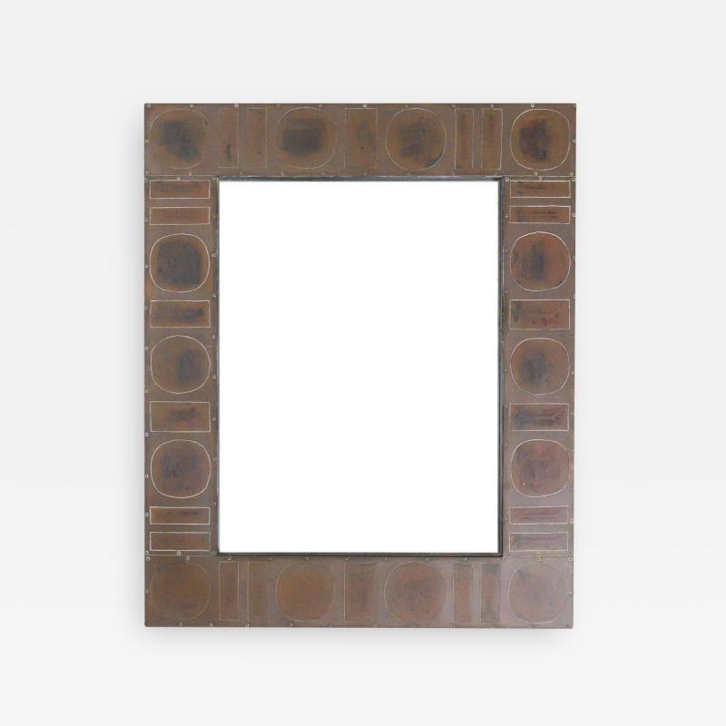 Mid Century Brass Mirror by Blazy