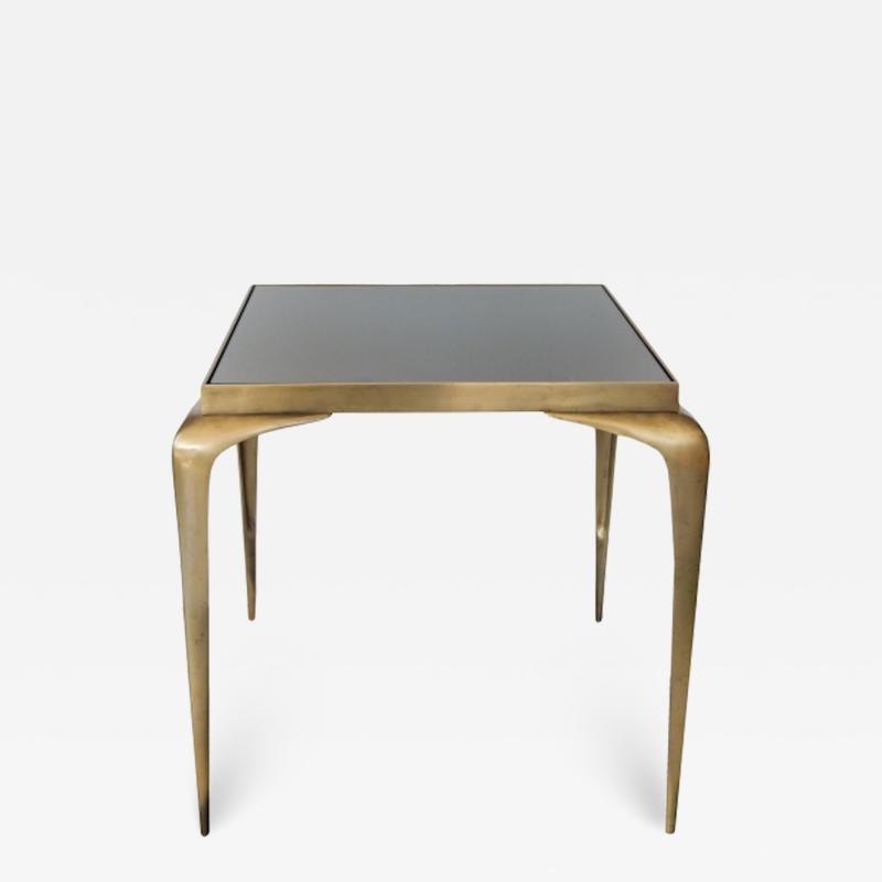 Mid Century Bronze Stiletto Leg Italian Table
