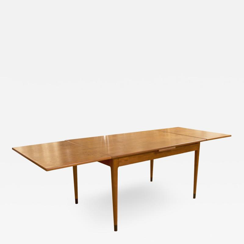 Mid Century Danish Dining Table with Extending Leaves