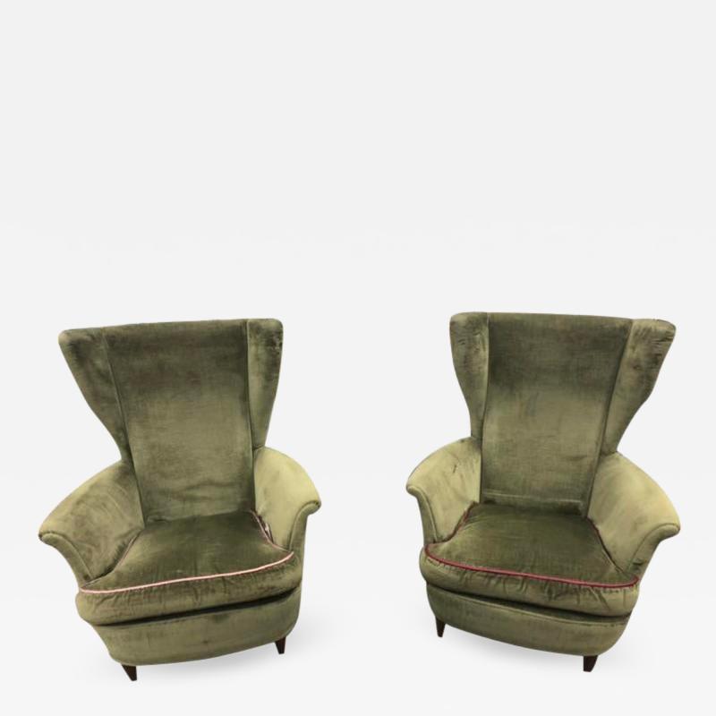 Mid Century Italian Lounge Chairs by Gio Ponti a Pair