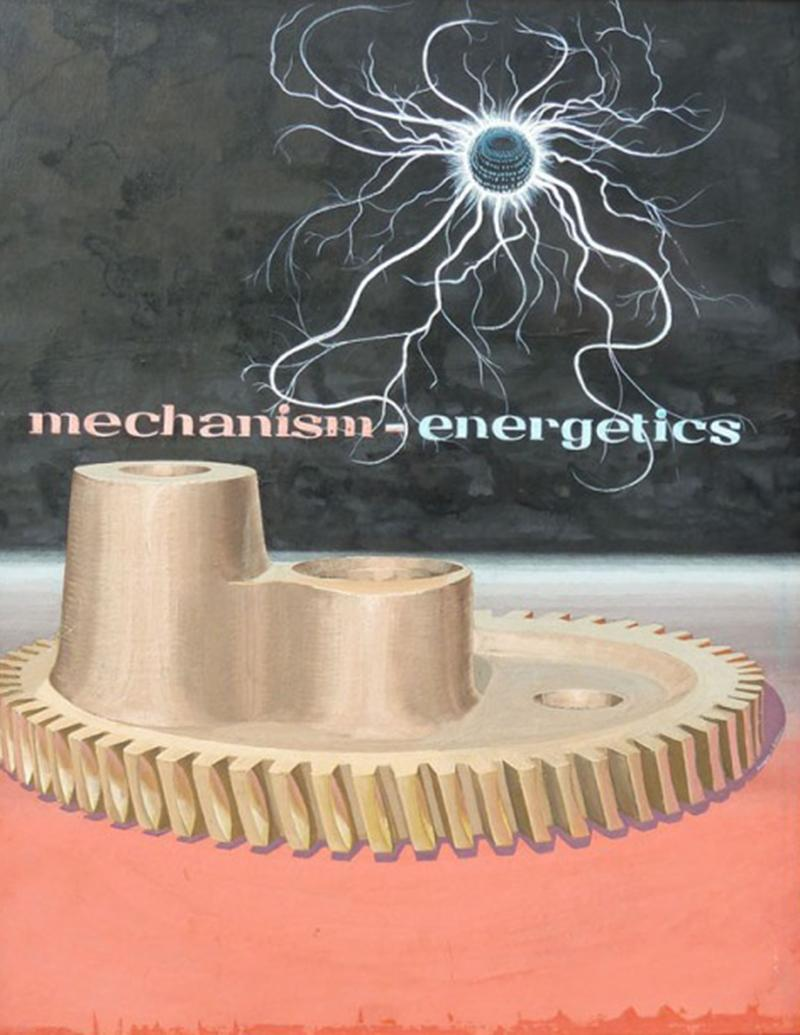 Mid Century Mechanism Energetics Gouache